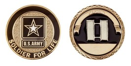 "ARMY CAPTAIN SOLDIER FOR LIFE 1.75"" MILITARY CHALLENGE COIN - $16.24"