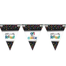 """Fun-Filled Retirement Party """"Off the Clock!"""" Pennant Banner Decoration - €5,15 EUR"""