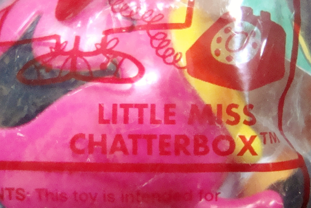 Mr. Men Little Miss Little Miss Chatterbox Arby's Kids Meal Toy