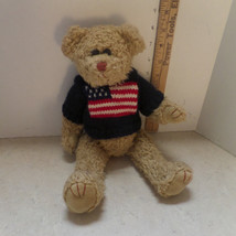 "1993, TY Patriotic Scruffy Bear.  Fully jointed, 12""  bear, USA, collector bears - $9.99"