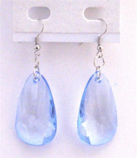 Sapphire Polygan Jewelry Sapphire Blue Bead Quality Dollar Earrings