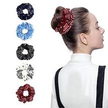 Accer Cotton Black Hair Ties Sets Black Elastic Hair Scrunchies Floral P... - $17.14