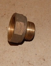 "Brass Big Garden Hose Adapter 1"" NPT x 3/4"" MHT Reduce 1"" Pipe To Hose U... - $19.49"