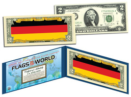 GERMANY - Flags of the World Genuine Legal Tender U.S. $2 Bill Currency - $13.81