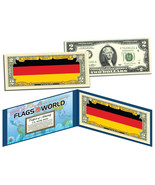 GERMANY - Flags of the World Genuine Legal Tender U.S. $2 Bill Currency - $18.49 CAD