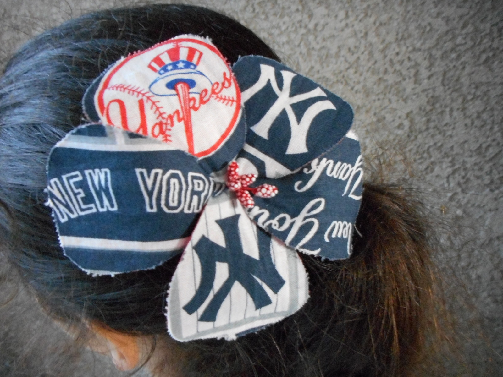 a90dfd987f029 New York Yankees Fabric Hibiscus Barrette and 50 similar items