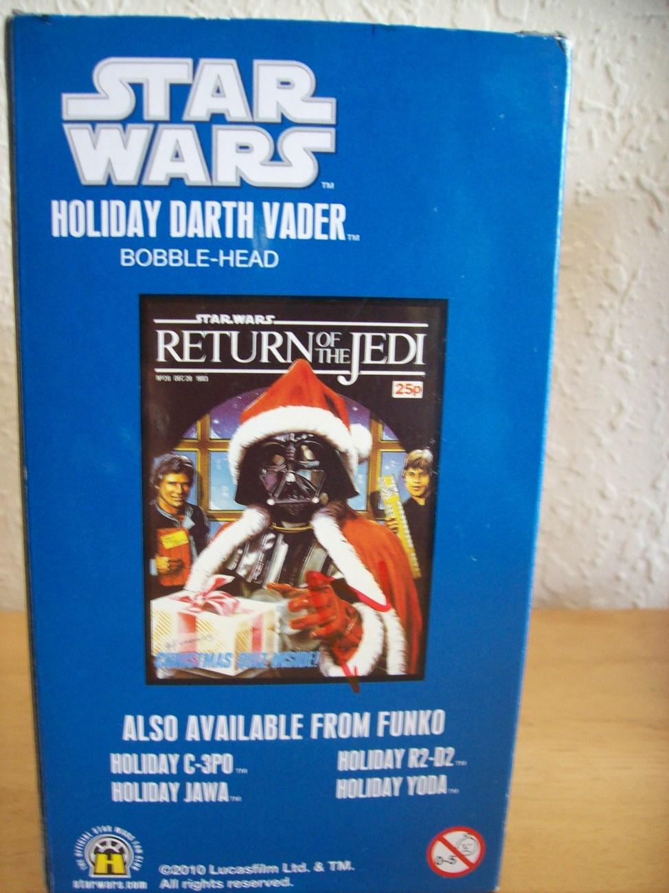 2010 Star Wars Holiday Darth Vader Bobble-Head Figurine