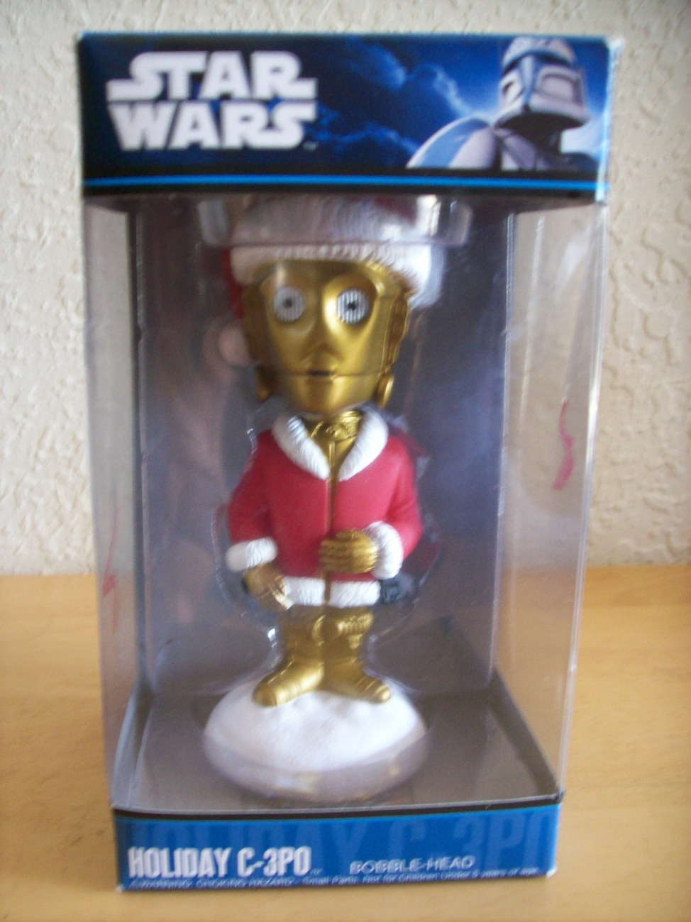 2010 Star Wars Holiday C-3PO Bobble-Head Figurine