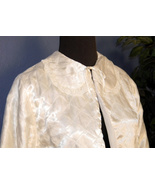 Quilted Bed Jacket Off White Vintage Lingerie J... - $13.99