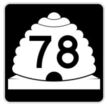 Utah State Highway 78 Sticker Decal R5412 Highway Route Sign - $1.45+