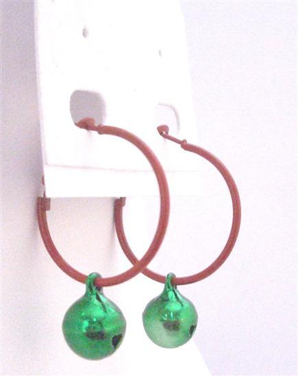 Hoop Earrings Cute Bell Dangling Absolutely Perfect Gift Only Dollar