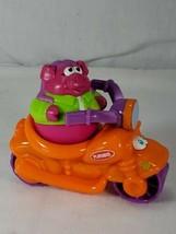 Playskool Weeble Wobbles Scooter & purple pig hog Figures Lot (ch) - $9.90