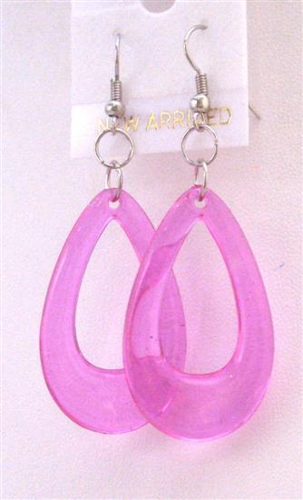 Dollar Jewelry Sexy Purple Glass Teardrop Earrings