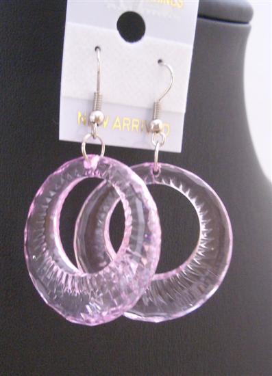 Clear Glass Hoop Earrings Dollar Earrings