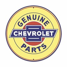 "Genuine Chevrolet Parts XL 28"" Round Metal Sign - $125.00"