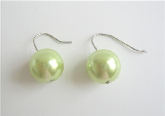Fancy Light Green Earrings Earrings