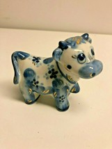 "Gzhel White and Blue ""Sheep"" Porcelain Figurine - $9.41"