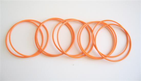 Sexy Orange Bangles Set Of 10 Bangles Just For $1