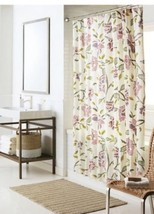 Threshold Multicolor Floral Shower Curtain Green Purple Cream Spring  NwT - $17.99