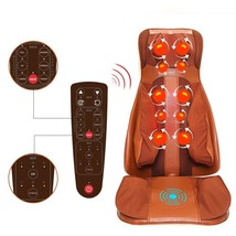 Massage seat shiatsu vibration rolling kneading back neck body massage c... - $277.75
