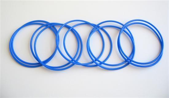 Royal Blue Sleek Delicate Bangles Set Of 10 Bangles For $1