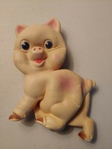 Rempel Vintage 1950s Chubby Pig Rubber Squeeze Squeak Toy Made In Canada - $43.78
