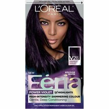 L'Oréal Féria Shimmering Permanent Hair Color - V28 Midnight Violet - $16.83