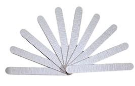 "10pc Zebra Nail Files 100/100 Grit 7"" Acrylic Nail Files White Plastic C... - $6.49"