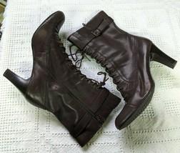 "Women's Size 10M Aerosole Leather Lace Up Heel Boots, 3.5"" Heel - EUC! - $39.49"