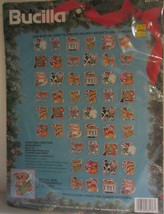 Bucilla Christmas Critters Ornaments  Perforated Plastic Cross Stitch Kit NEW - $24.65