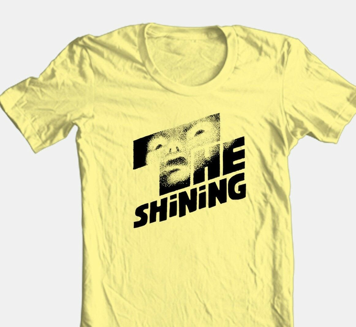 The Shining T-shirt retro 70's Stephen King horror movie 100% cotton yellow tee