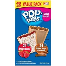 Kellogg's Pop Tarts Frosted Brown Sugar Cinnamon and Strawberry Value Pack - $22.72