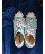 Light Blue Converses Sneakers Unisex Adult Size - $4.00