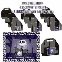 Nightmare Before Christmas Party Favor Boxes Thank you Decals Stickers P... - $24.70