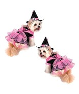 Dog Costume - PINK SHINY WITCH COSTUMES Dogs As Witches Black Satin(Size 5) - $53.24