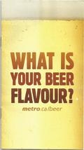 Canadian WHAT IS YOUR BEER FLAVOUR METRO GROCERY STORE CHAIN AD BOOKLET - $2.00