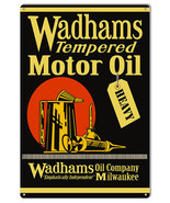 Wadhams Tempered Motor Oil Reproduction Garage Shop Metal Sign12x18 - $25.74