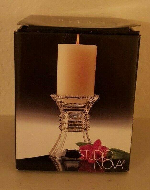 Mikasa Glass Pillar Candle Holder