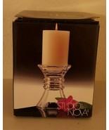 Mikasa Glass Pillar Candle Holder - $11.88