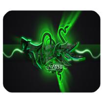 Mouse Pad Razer Saga Logo In Green  Metal Design For Game Animation Fantasy - $6.00