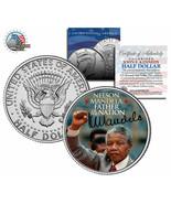 "Nelson Mandela ""Father Of The Nation"" Signatured ESTADOS UNIDOS Jfk Medi... - £5.40 GBP"