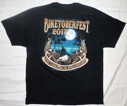 2017 Biketoberfest Black T-shirt XL Daytona Beach FL Eagle/Moon Graphics - $14.34
