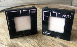 (2) Maybelline Fit Me! Pressed Powder Pressed Powder #110 Porcelain - $8.56