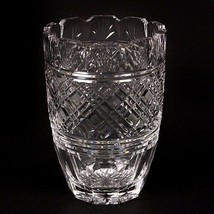 "Waterford Crystal 8"" Vase Beautiful Design, Fluted Edge, Great Condition - $178.20"