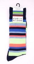 Funky Socks Men's Socks Multi Color Stripes / Blue Polka Dots Fun Socks ... - $9.99