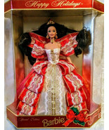 Happy Holidays Barbie Special Edition Gold Backing 1997 -10 Anniversary - $85.39