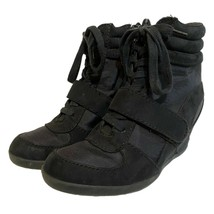 Vera Wang Simply Vera Womens Black Buckle Wedge Zipper Ankle Boots Size 7.5 - $24.74