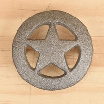 Set of 6 Cast Iron Small Star Drawer Pull, Cabinet Knobs - $12.86