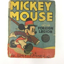 Mickey Mouse in the Foreign Legion Disney 1940 Better Little Book 1428 BK2 - $29.95