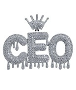 Men's Custom Name Iced Out Crown Bubble Letters Chain Pendant Necklaces ... - $69.34+